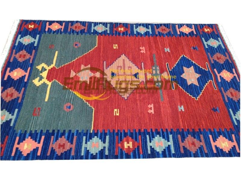 Ручная работа; вязаное; шерстяное Ковры Kilim гостиная ковер Bedroon прикроватные одеяло коридор Средиземноморский стиль 43gc131kilimyg4