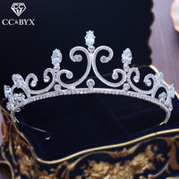 CC tiaras and crowns queen headdress engagement wedding hair accessories for bride party jewelry romantic simple deasign XY230