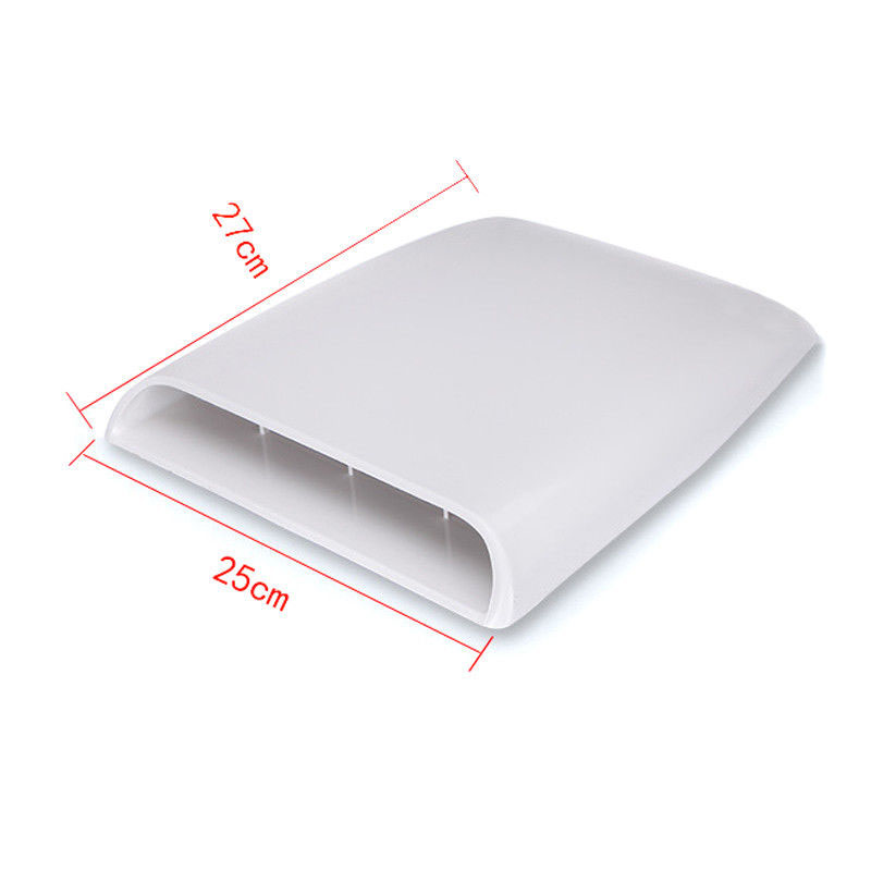 Image 2 - 1x Universal Car Bonnet Hood Scoop Air Flow Intake Vent Cover Decorative 28*25*3.3cm White/ Black Auto Air Flow Vent Cover-in Bug Shields from Automobiles & Motorcycles