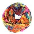 Infinito de la bufanda mujeres estilo británico a cuadros tartán pañuelos bandana hijab Graffiti marca franja foulard bufandas bufandas cachecol