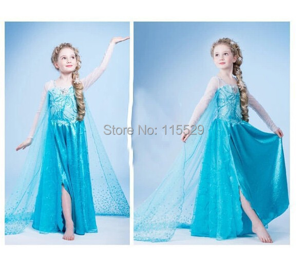 Freeshipping Frozen Elsa Costume Frozen Anna Dress For Halloween Elsa Dress Girl Cosplay Costume-in Anime Costumes from Novelty u0026 Special Use on ...  sc 1 st  AliExpress.com & Freeshipping Frozen Elsa Costume Frozen Anna Dress For Halloween ...