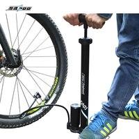 SAHOO Bicycle Air Pump Cycling Tire Inflator Floor Type Riding Bike Pump High pressure pump Cycling equipment accessories