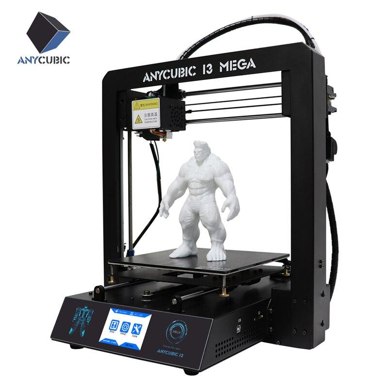 ANYCUBIC imprimante 3D I3 Mega grande taille plein métal TFT écran tactile 3d imprimante haute précision 3D Drucker Impresora pièces