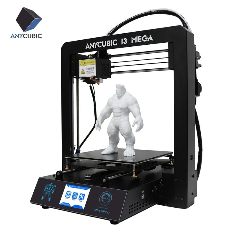 Новые anycubic 3D-принтеры i3 Мега Полный металлический каркас с ultrabase platfrom промышленного класса Высокая точность affordble