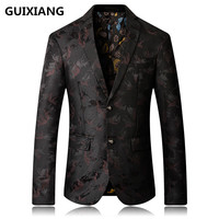 2017 Autumn New Style Men S Casual Blazers Men Coats Jacket British Style Printing Classics Business
