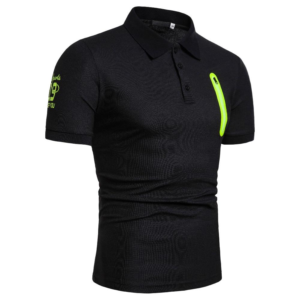 2019 New Man   Polo   Shirt Mens Casual Zipper Cotton   Polo   Shirt Men Short Sleeve High Quantity   Polo   Men