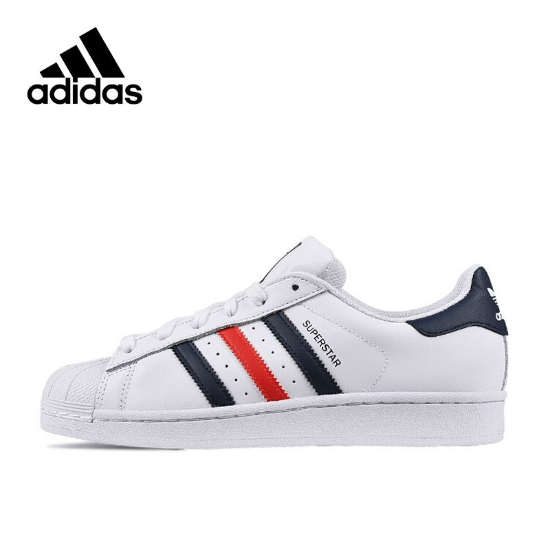 Intersport New Arrival Authentic Adidas Originals SUPERSTAR Breathable Women's And Men's Skateboarding Shoes Sports Sneakers adidas originals superstar foundation c shoe little kid