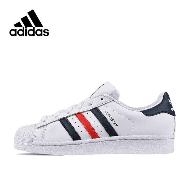 Nuovo Arrivo Autentico Adidas Originals SUPERSTAR delle Donne E degli uomini Traspirante Scarpe Da Skateboard scarpe