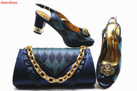 doershow good Shoes with Matching Bags for Wedding Women Shoes and Bag to Match for Party Nigerian Shoes and Bag Set! HTB1 16