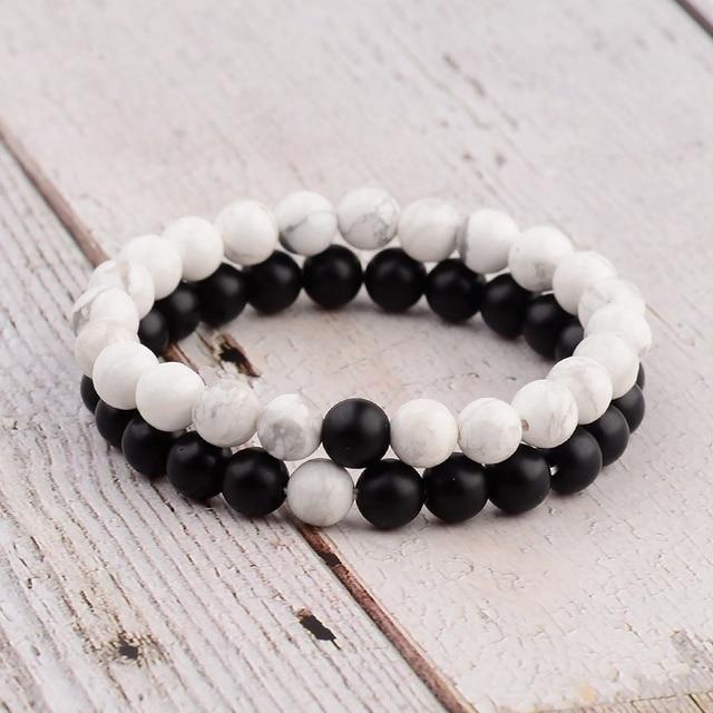 Chakra-bracelet-distance-bracelet-white-black