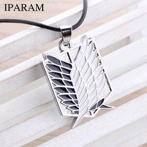 Металлический чехол с рисунком из аниме атака на Крылья Свободы titanium ожерелье Shingeki no Kyojin косплей ожерелье обследования