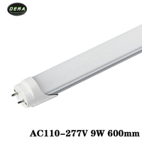 2pcs T8 2FT 600mm 9w LED Tube Light AC110 277V Lamparas Led Fluorescent Lamp Tubes 604mm