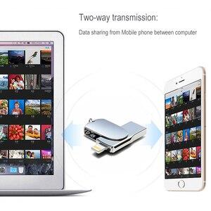 Image 5 - Novel Lightning USB Flash Drive 256 GB 128 GB Pendrive Memory Stick Voor iPhone USB Flash Pen Drives U Stok voor iPad iPod