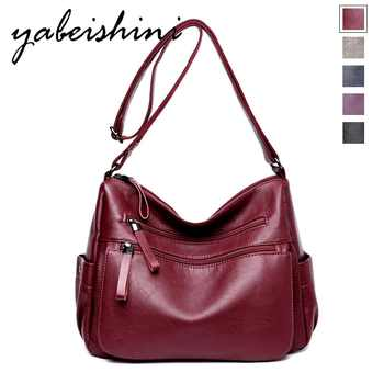 Moda feminina cor sólida duplo zíper bolsa de ombro saco do mensageiro estilo retro bolsas femininas saco grande capacidade
