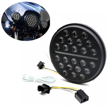 Universal 7 Inch Round LED Headlight for Motorcycles Headlamp Slim White DRL Line 52W New