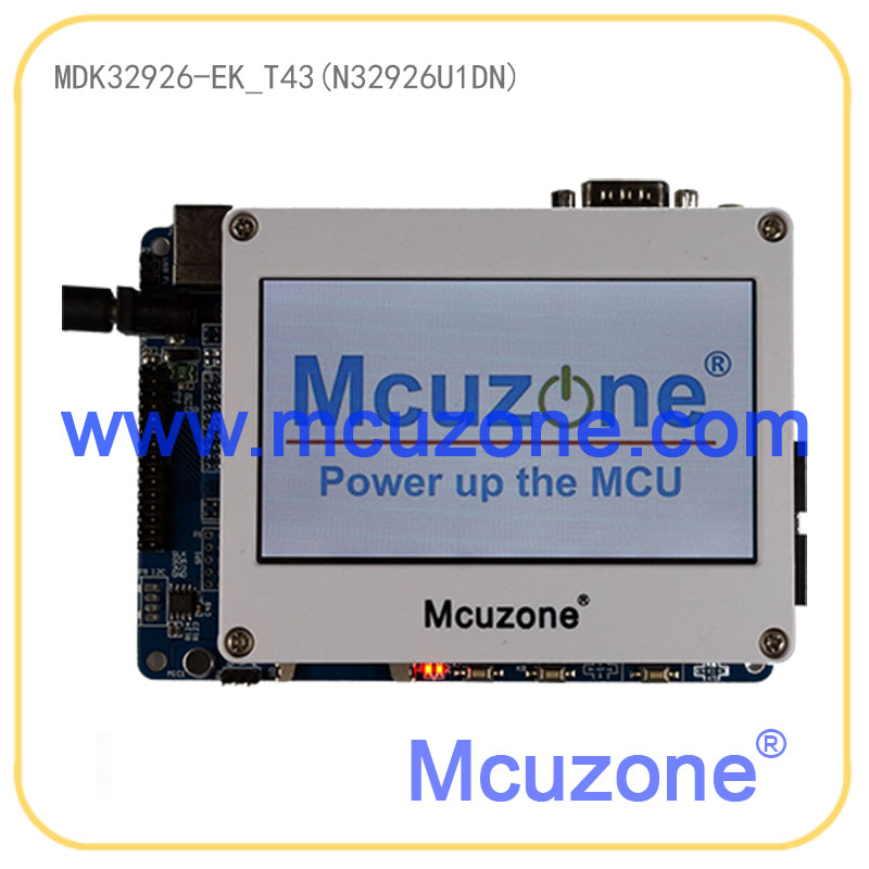MDK32926 EK T43 NUVOTON N32926U1DN Soc 64MB DDR2 USB LCDC AUDIO H 264 and JPEG codec