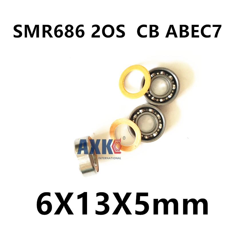 Free Shipping 2PCS S686 2RS CB ABEC7 6X13X5mm Stainless Steel Hybrid Ceramic Bearings free shipping 2pcs 40mm stainless steel