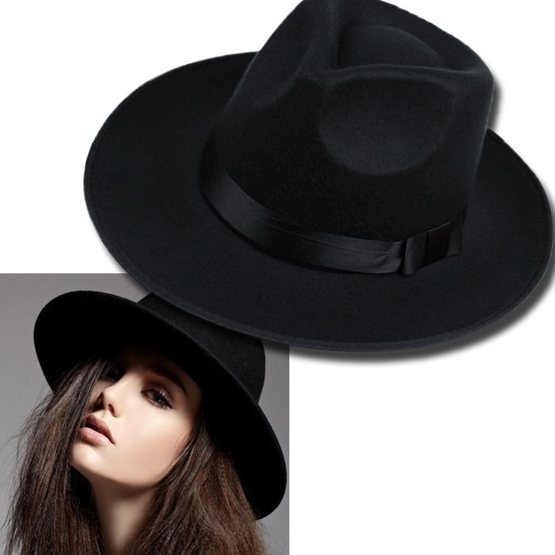 ᗚVintage Women Caps Wide • Brim Brim Hat Black Ribbon Warm ...