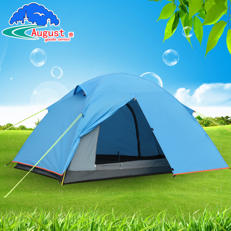 Фото Outdoor August camping camping equipment, ultra light aluminum alloy, three season double deck windproof and anti storm aluminum