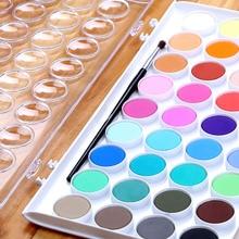 12/16/28/36 Colors set Solid Watercolor Cake Outdoor Paint Pigment Set Transparent Box Painting Supplies WXV Sale