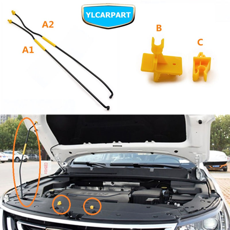 Für Geely Emgrand X7 EmgrarandX7, EX7, FC SUV, Vision X6, NL4, Auto haube strut clip