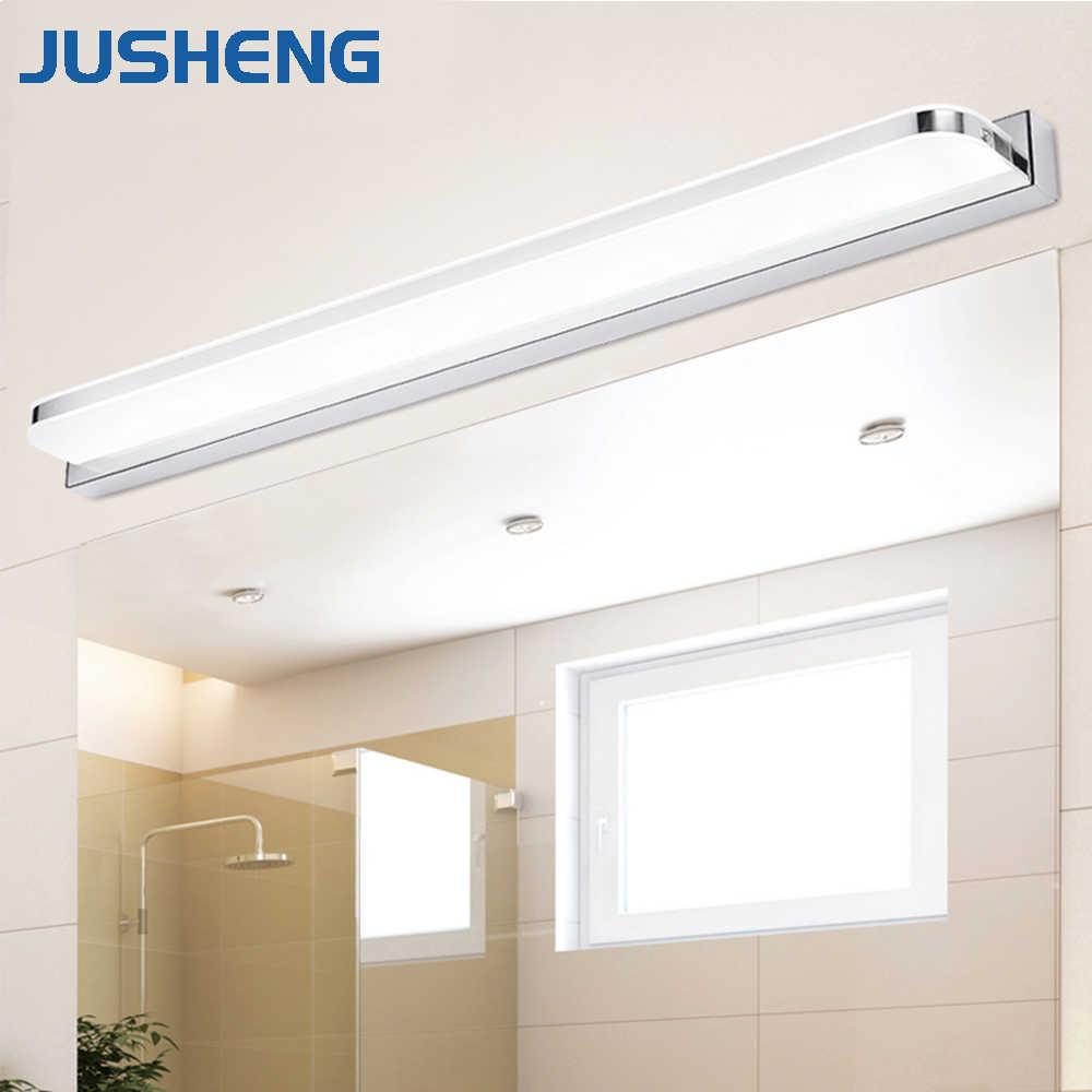 JUSHENG современные линейсветодиодный ные светодиодные Настенные светильники над зеркалом огни в ванной комнате Крытый бра лампы освещения 25 ~ 112 см AC90-260V
