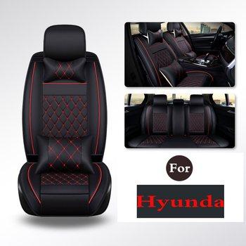 (1 Set) PU leather Car Seat Cover Seat Cover Protection auto Seat For Hyundai I30 Elantra Sonata Ix25 Tucson Ix35 Moinca