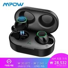 Mpow T6 Bluetooth 5,0 СПЦ наушники Беспроводной громкой связи Наушники Двойной наушники IPX7 Водонепроницаемый с 21 H игр зарядный чехол