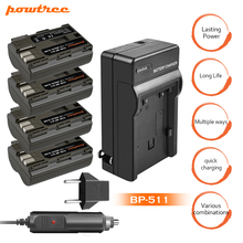 4Packs 7.2V 2800mAh BP-511A BP511 Li-ion Battery +Battery Charger+Car charger For Canon EOS 5D 50D 40D 20D 30D 10D D60 300D L10 стоимость