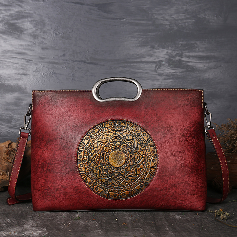 2018 Vintage Women Genuine Leather Handbags Ladies Retro Elegant Shoulder Messenger Bag Cow Leather Handmade Womans Bags vintage luxury women genuine leather handbags ladies retro elegant shoulder messenger bag cow leather handmade womans bags