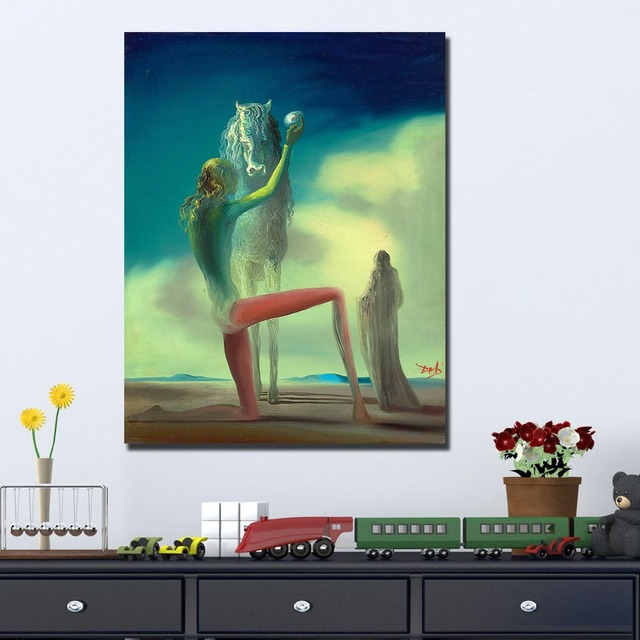 Salvador Dali The Death Knight Canvas Painting For Living Room Home Decoration Oil Painting  Printing On Canvas Wall Painting 2