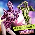 Danza discoteca bar DS DJ cantante femenina trajes de baile danza ropa Fluorescente Spider-Man
