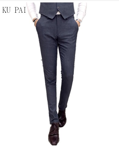 2017 autumn feet pants young British trousers men business casual pants Korean Slim type was thin