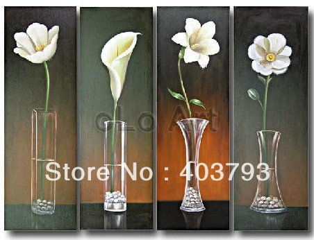 MODERN ABSTRACT HUGE LARGE CANVAS ART OIL PAINTING high grade flower framed in Painting Calligraphy from Home Garden