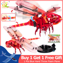 330Pcs Simulated insect DIY Red Dragonfly Building Blocks Compatible Legoingly Technic Bricks kids Educational Toys for Children(China)