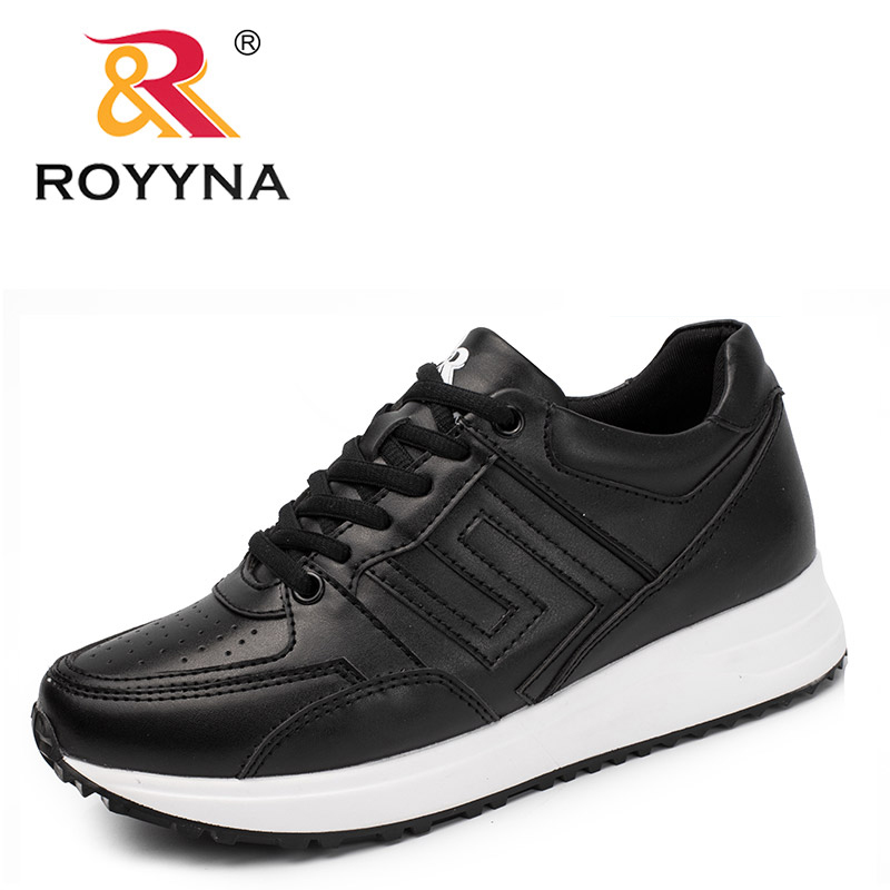 ROYYNA New Trendy Style Women Sneakers Shoes Lace Up Femme Casual Shoes Synthetic Tenis Feminino Sapato Handmade Lady Flats glowing sneakers usb charging shoes lights up colorful led kids luminous sneakers glowing sneakers black led shoes for boys
