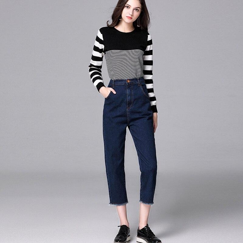 2017 Women's Casual Harem Bell Bottom Pants Plus Size Casual Women Palazzo Cotton Wide Leg Women Jeans Flare boot cut Pants harem pants for women plus size cotton 96