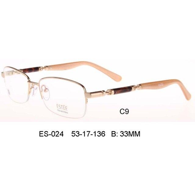 half rim monture De lunettes myopie Spectacle ordinateur lentille claire optique hommes femmes Armacao Oculos De Grau Femininos