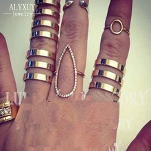 New fashion jewelry hollow finger ring gift for women girl size adjustable 1lot 3pcs include 2