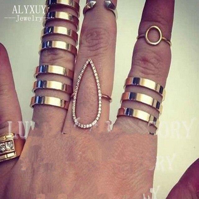 Nova moda jóias dom anel de dedo oco para as mulheres menina tamanho ajustável 1 lote = 3 pcs (incluir 2,3, 4 linha) R857 atacado