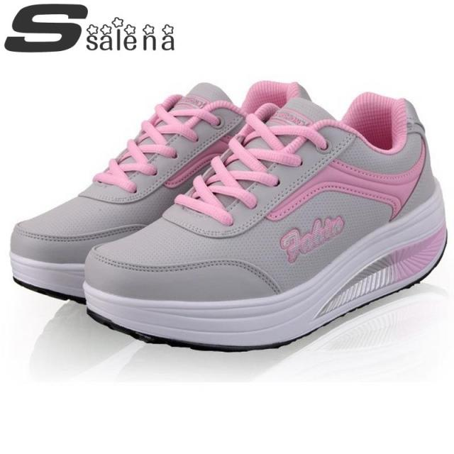 Women platform casual shoes all season outdoor shoes Top fashion swing breathable ladies flats