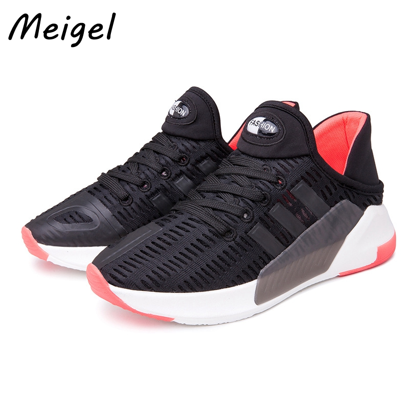 MEIGEL New Fashion Flat Women Trainers Breathable Shoes Woman Light Weight Lace Up Mesh Casual Women Flats Zapatillas Mujer 358 new waterproof ip camera 720p cctv security dome camera video capture surveillance hd onvif cctv infrared ir camera outdoor