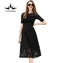 Leiouna Fashion Europe Flower Femme Casual Slim Clothing Hollow Out Lace Summer Vintage White Dress Harajuku Bodycon Mesh