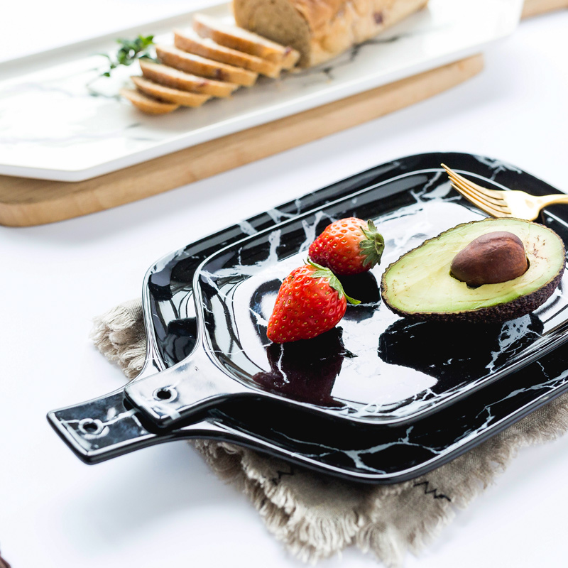 European Marble Tableware Ceramic Tableware Dish Face Plate Platter Bow Cutter Board