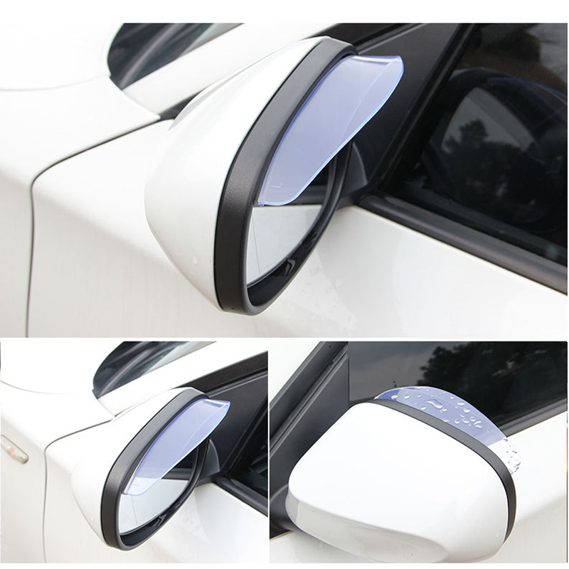 2PCS Car Universal Rain Shield Sticker Car Rear Mirror Styling Rain Shade Exterior Accessories Car Awnings Shelter