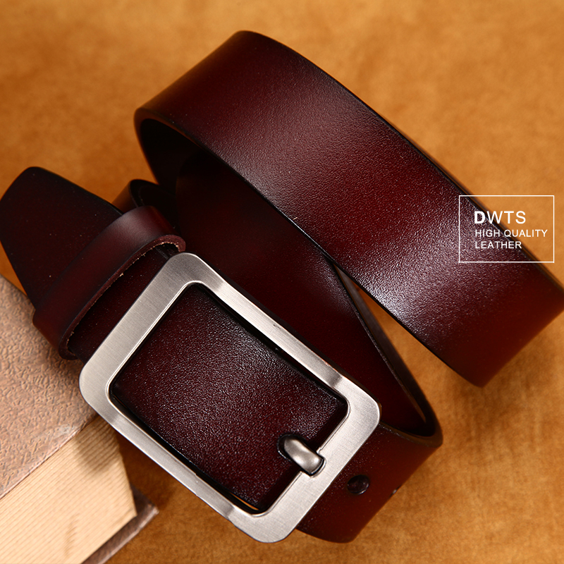 [DWTS]Men's belt leather belt men male genuine leather strap luxury pin buckle casual men's belt Cummerbunds ceinture homme
