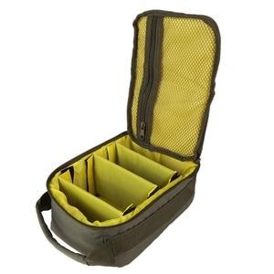 Сумка для рыболовной катушки, 4-слойная, 600D, ткань Оксфорд, двойная, на молнии, для хранения на открытом воздухе, контейнер для лески, приманки, рыболовные крючки, 2019