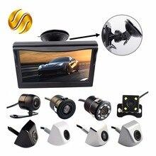 """2en1 Car Parking Kit Sistema de 5 """"lechón Soporte de Monitor en Color de 5 Pulgadas TFT LCD de Pantalla HD + Cámara de Visión Trasera Resistente Al Agua"""
