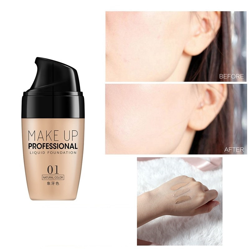 Base Face Foundation Cream Waterproof Lasting Concealer Makeup Cosmetics Oil Control Liquid Foundation Maquillage Facial TSLM1 image