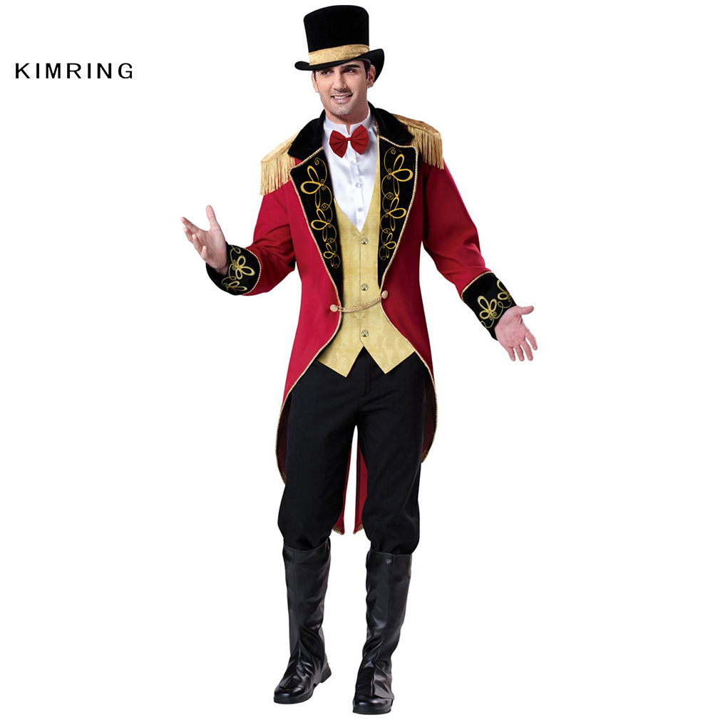 Kimring Ringmaster Halloween Kostüm Circus Gentleman Karneval Magier Erwachsene Mann Kostüm Fantasia Cosplay-in Film- & TV-Kostüme aus Neuheiten und Spezialanwendung bei AliExpress - 11.11_Doppel-11Tag der Singles 1